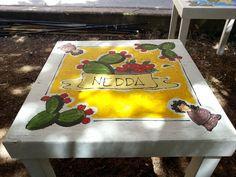 """Acrilico su legno Tavolo """"Nedda"""""""