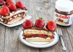 No Bake Strawberry Nutella Tiramisu Cake | Kirbie's Cravings | A San Diego food blog