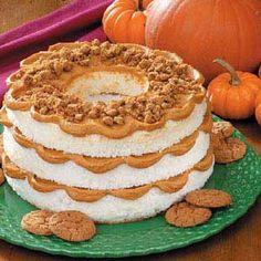 Pumpkin Layered Angel Cake