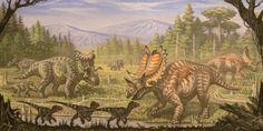 Utahceratops, Komoceratops, Dromaesaurus by ABelov2014.deviantart.com on @DeviantArt