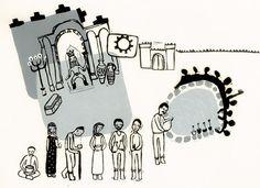 "Illustration for the book ""Namakiha"" - 2012 - Published by Danesh negar handprint (linoleum)"