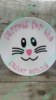 I'll be making this for the boys! Carrots For The Easter Bunny Plate