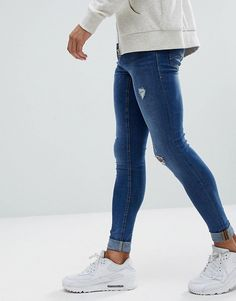 Skinny Jeans Style, Super Skinny Jeans, Nike Outfits, Maps, Men's Fashion, Tights, Concept, Shopping, Male Style