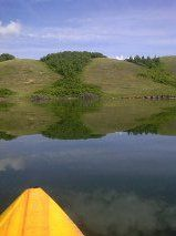 A calm kayak across Little Manitou Lake to the north shore. Total serenity. Photo by T