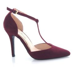 Amazon.com: Momentum40 Bordeaux Pointed Toe Middle Strap Ankle Strap Stiletto Heel Cover Fashion Shoe: Shoes $23.50 (save 17)