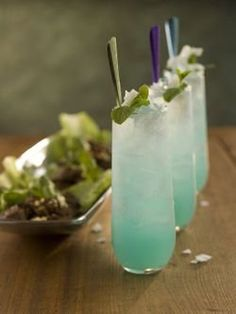 Blue Thai mojito ounce blue Curaçao 1 ounces Bacardi Limon rum or Bacardi white rum 1 ounces Coco-Mint Syrup 1 ounce fresh lime juice 2 ounces chilled soda water Party Drinks, Cocktail Drinks, Cocktail Recipes, Alcoholic Drinks, Beverages, Drink Recipes, Blue Curacao, Bacardi, Refreshing Drinks