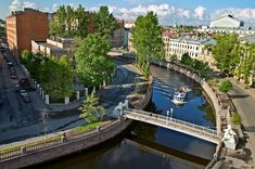 Набережная канала Грибоедова, Львиный мостик, Санкт-Петербург