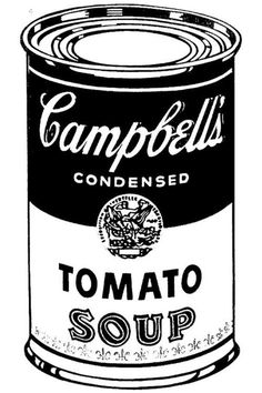Image result for warhol campbells soup can line drawing