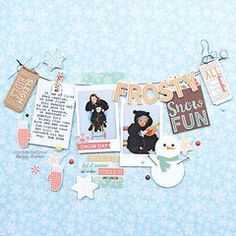Baby it's cold outside! Winter Wonderland from Simple Stories is the perfect compliment to this collection.