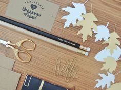 Welcome Autumn | Welcome Fall | At the Studio By Corazones de Papel #corazonesdepapel #stationery