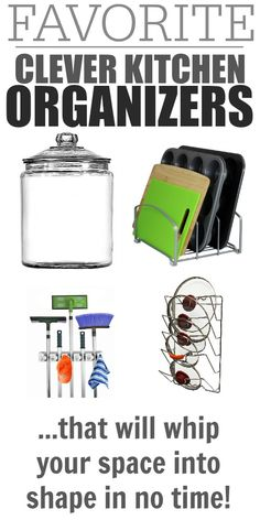 Clever kitchen organizers that will get your space neat, tidy, and efficient in a flash!