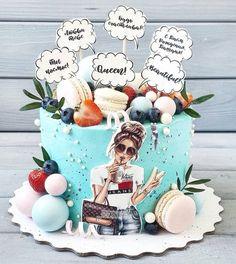Russian Cakes, Girl Cakes, Cake Decorating, Birthdays, Sweet, Party, Design, Ideas, Fashion