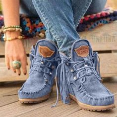 Oumiss women snow warm winter boots botas lace up fur ankle boots - oumiss Flat Heel Boots, Lace Up Ankle Boots, Lace Up Heels, Heeled Boots, Tassel Heels, Warm Winter Boots, Winter Shoes, Fall Winter, Vintage Boots