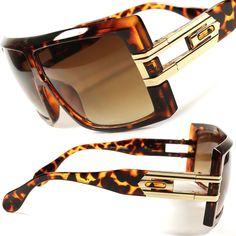 Mens Womens Tortoise Oversized Square Millionaire Rapper OG Hip Hop Sunglasses
