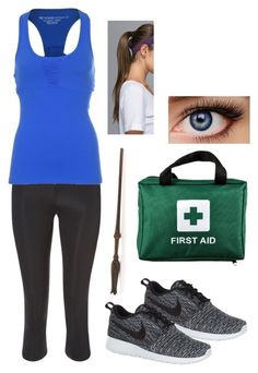 """The Jewel of His Life: Lia's Mediwitch Uniform"" by capeles on Polyvore featuring beauty, NIKE, Sweaty Betty, Beyond Yoga and lululemon"