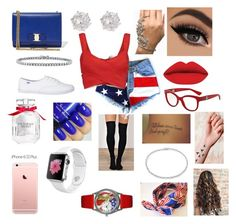 """""""Independence Day"""" by aryannaaaa on Polyvore featuring Donna Karan, Salvatore Ferragamo, River Island, BERRICLE, Dolce&Gabbana, Victoria's Secret, Suzanne Kalan and Whimsical Watches"""