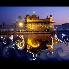 A beautifully edited photo of Sri Harmandir...