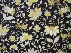Check out our fabric selection for the very best in unique or custom, handmade pieces from our shops. Vera Bradley Patterns, Bee Movie, Black N Yellow, Flower Prints, Fabric Patterns, Painting & Drawing, Colours, Drawings, Yellow Birds