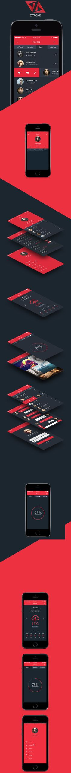 Not quite a wireframe, but it's an interesting way to display the different levels in an interface.