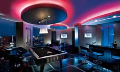 """Located in the Palms Fantasy Tower, the 2,000 square foot Las Vegas Crib Suite Penthouse displays the very best of the hip-hop lifestyle.  Exclusive amenities include a DJ booth, saltwater fish tank, """"Sound Seating,"""" Show Shower and hydraulic bed.  It's everything a mogul could want and more!"""