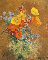 Still life with flowers by Venny Soldan-Brofeldt