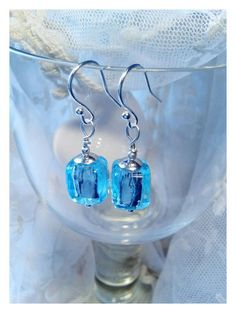 Check out this item in my Etsy shop https://www.etsy.com/listing/236590438/aqua-blue-silver-earrings