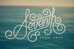 Typography / Seventh St. Surf Shop logo — Designspiration