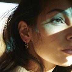 Anna Nooshin Single Eternity Hoop Earring Goldplated or 14K Gold