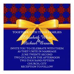 Invitation made using powerpoint and photoshop elements beauty and elegant damasks wedding invitation stopboris Choice Image