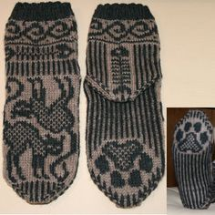 fantastisk fine mønstre for salg! Mittens Pattern, Cat Pattern, Fair Isle Knitting, Knitting Socks, Crochet Crafts, Knit Crochet, Norwegian Style, Knitting Patterns, Crochet Patterns