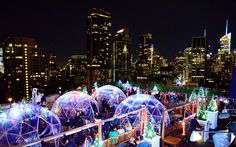 Grab a Drink at This Rooftop Igloo Bar in New York City   No parka required.