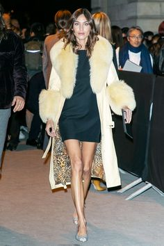 Claudia Winkleman Just Wore My Favourite Zara Party Dress : Celebrity party dressing: Alexa Chung in a furry coat Claudia Winkleman, Alexa Chung Style, Alexa Chung Hair, Charlotte Rampling, Casual Party Dresses, Sexy Dresses, Winter Party Outfits, Club Dresses, Womens Fashion Online