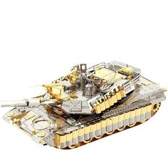 New Arrival 3D Metal Puzzle M1A2 SEP TUSK II Tank P077-GS DIY Metal Puzzle Kits Jigsaw Model Adult Toy Metal Craft