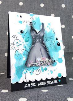Scrap et Carte: Carte anniversaire (1/2) : Petite robe noire