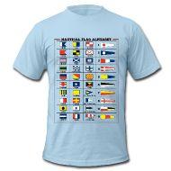 Magliette ~ T-shirt da uomo American Apparel ~ T-Shirt da uomo - Alfabeto Bandiere Nautiche