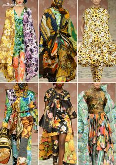 London Catwalk Print & Pattern Highlights - Fall 2018 Ready-to-Wear Color Trends, Design Trends, Fashion Vocabulary, Floral Fashion, Pattern Mixing, Textiles, Fall 2018, Catwalk, Peter Pilotto