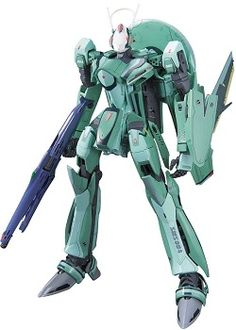 Piloted by boy genius Luca Angelloni, the green RVF-25 Messiah Valkyrie gets the snap-fit plastic kit treatment and accompanied with not just one, but all 3 of his Ghosts!