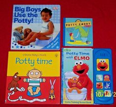 4 Potty Toilet Training Books Boys Elmo Play A Sound Usborne Caddy Age