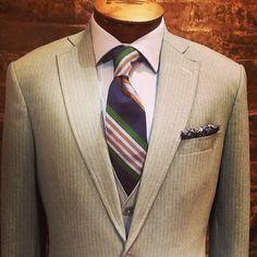3pc light grey wool suit l Nicholas Joseph Custom Tailors l www.customsuitsyo... l Chicago, IL l USA