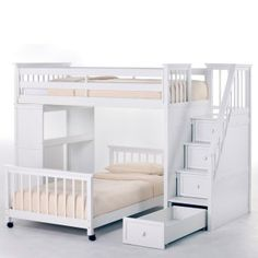 kids bunk bed with stairs slide ne kids schoolhouse stairway loft bed white bunk beds at hayneedle 114 best bed ideas images on pinterest beds suspended