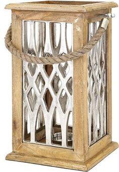 Ansley Large Wood and Aluminum Lantern