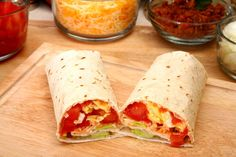 Homemade Breakfast Burrito - 13 Healthy Breakfast Ideas for the New Year - Shape Magazine - Page 10 Breakfast Wraps, High Protein Breakfast, Breakfast Burritos, Breakfast Time, Mexican Breakfast, Balanced Breakfast, Camping Breakfast, Homemade Breakfast, Snacks