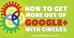 Are you building a network on Google+?  Do you want to keep your connections organized?  Sorting people and pages into circles allows you to read the news you want from your stream and connect with specific audiences.  In this article I'll share how to use circles to improve your Google+ network.