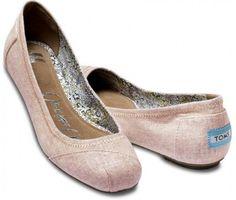 TOMS Linen Ballet Flats Natalia Rose Women 5.5 - Polyvore