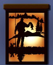 Scroll Saw Patterns :: Lighted projects :: Night lights & lamps :: Fisherman night light - #Scrollsawpatterns