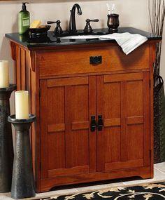 craftsman sink cabinet