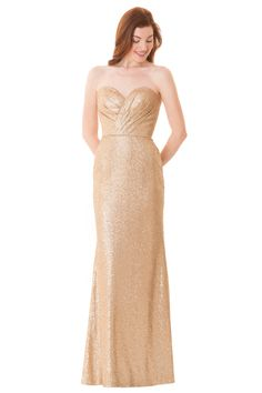 f4f40fb37a87 Bari Jay 1674 is a long Sequin bridesmaid dress that has a strapless  sweetheart neckline with pleated sequin bodice. Center back zipper closure.