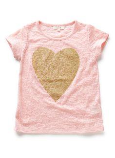 seed heritage   glitter heart tee