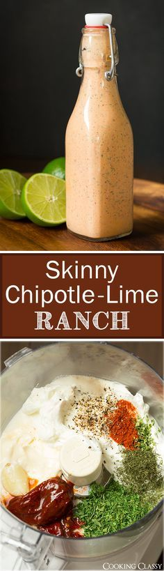 Skinny Chipotle Lime Ranch - it's made with Greek yogurt and a little light mayo. So easy to make and it's addictive!