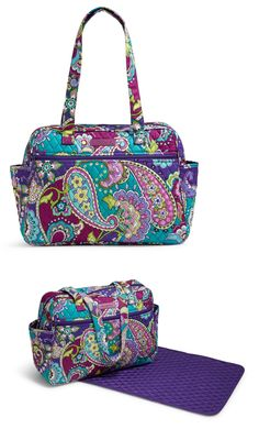 Diaper Bags 169295  Vera Bradley Baby Bag Heather New With Changing Pad -   BUY IT NOW ONLY   58.99 on eBay! 86044ff8bde11